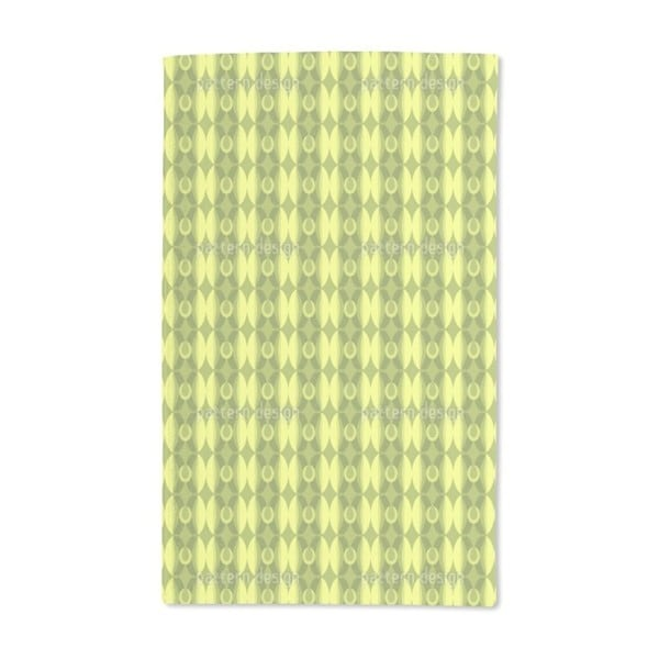 Retro Olive Hand Towel (Set of 2)