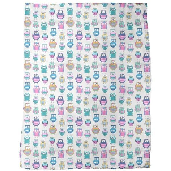 Cartoon Owls Fleece Blanket