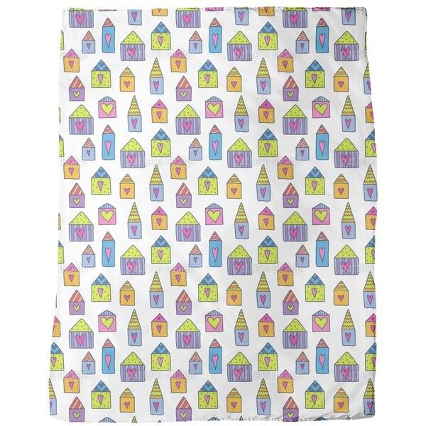 Lovely Houses Fleece Blanket