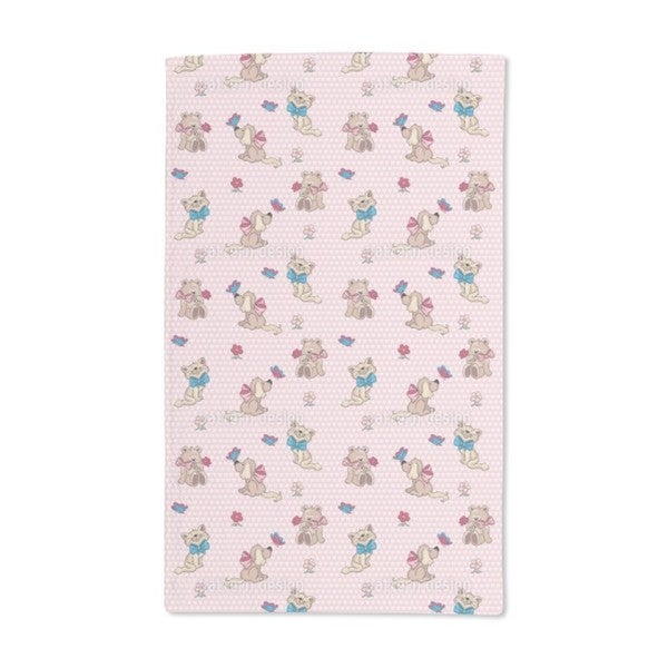 Cute Cuddly Animals Hand Towel (Set of 2)
