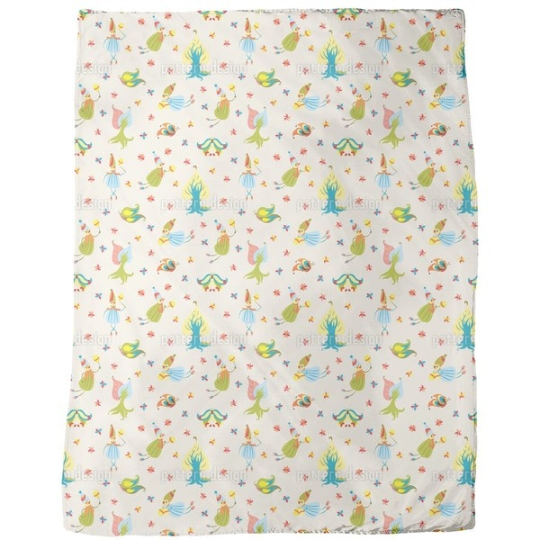 Forest Fairies Fleece Blanket