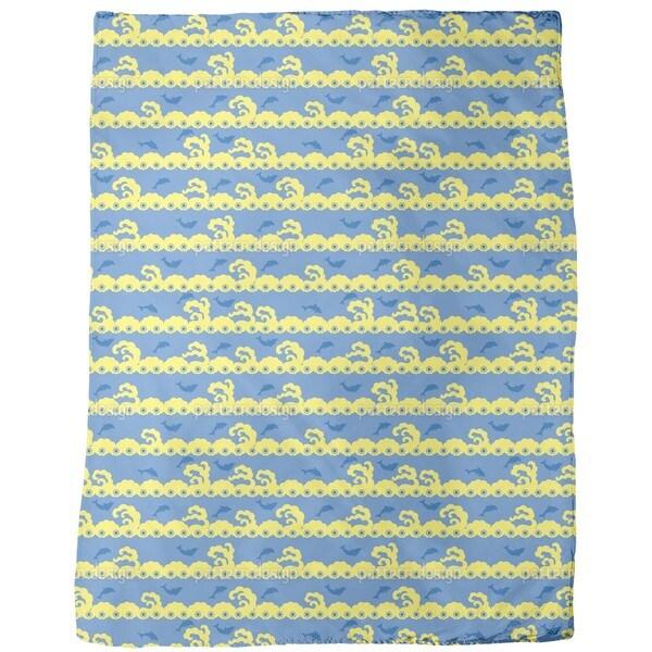 Wavy Games Fleece Blanket