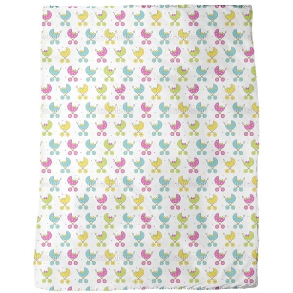 Baby Buggy Parade Fleece Blanket