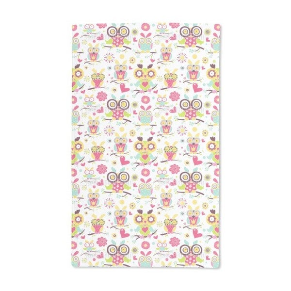 Owl Family Hand Towel (Set of 2)