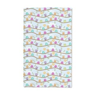 Owls on a Sunny Day Hand Towel (Set of 2)