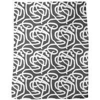 Black and White Painting Fleece Blanket