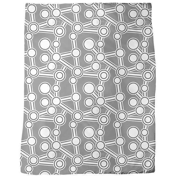 Ab Original Grey Fleece Blanket