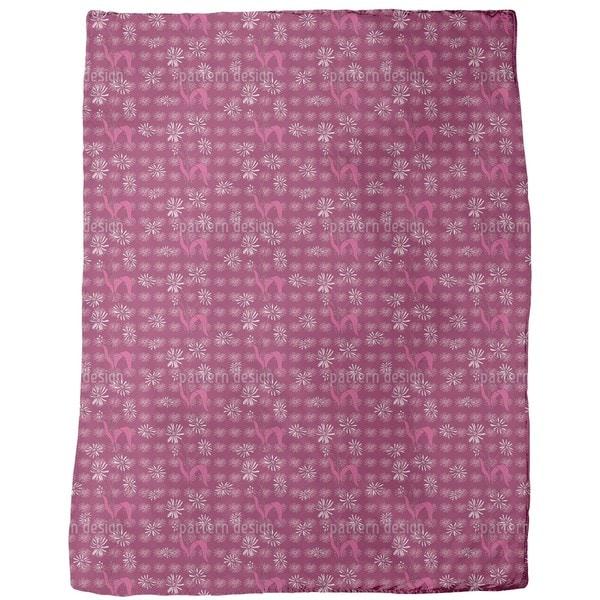 Daisy Flowers Purple Fleece Blanket