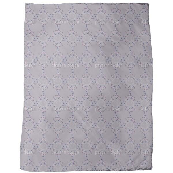 Forget-Me-Not Dark Fleece Blanket