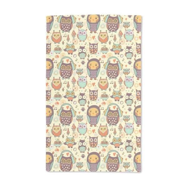 Owl Love Music Very Much Hand Towel (Set of 2)