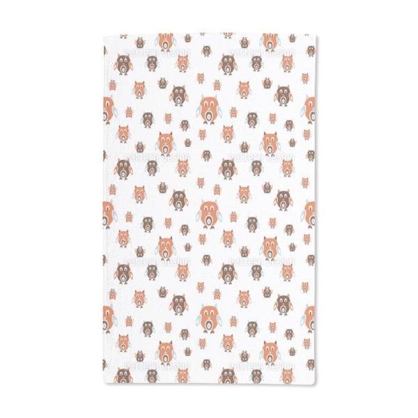 Retro Owls Hand Towel (Set of 2)
