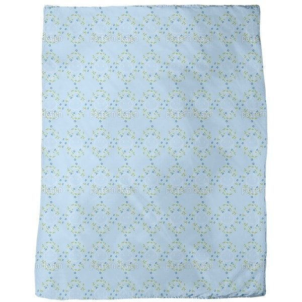 Forget Me Not Blue Fleece Blanket
