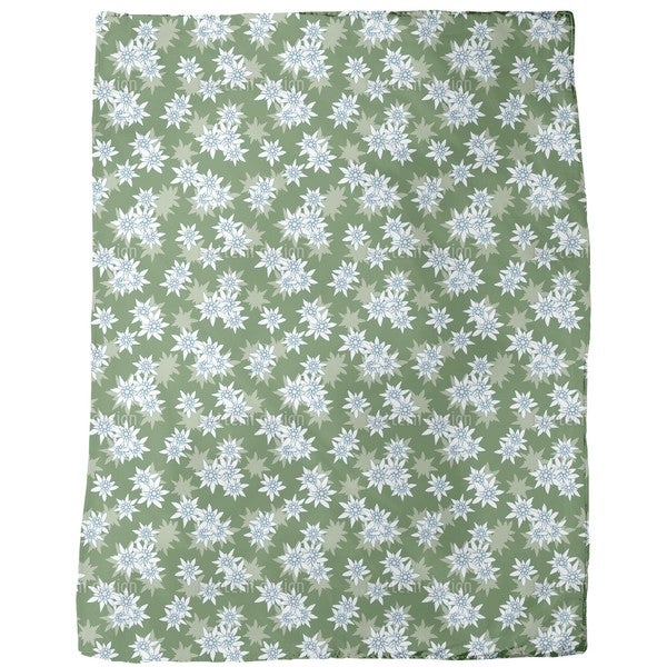 Edelweiss Green Fleece Blanket