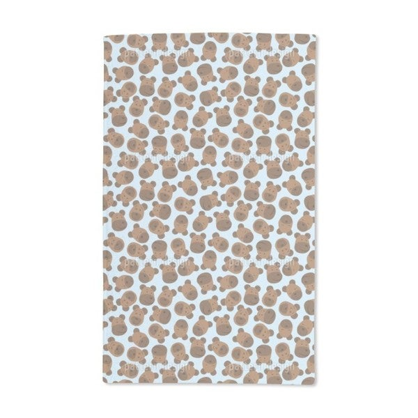 Mister Bear Blue Hand Towel (Set of 2)