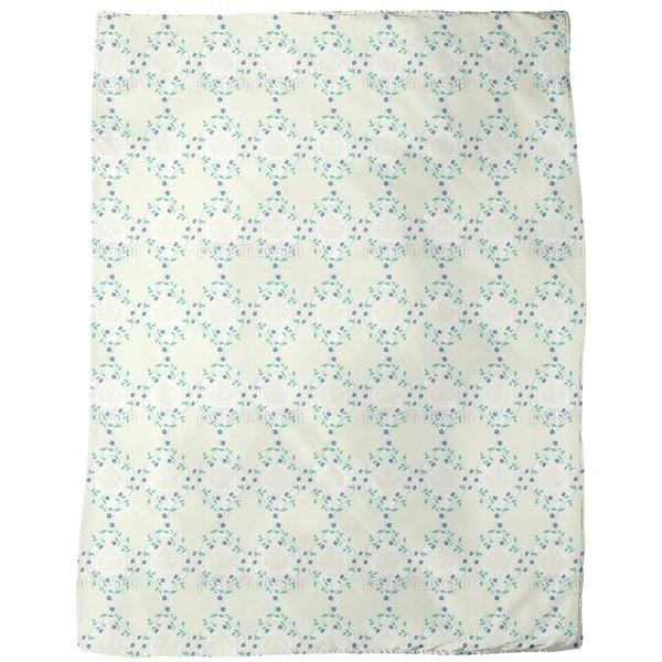 Forget-Me-Not Light Fleece Blanket