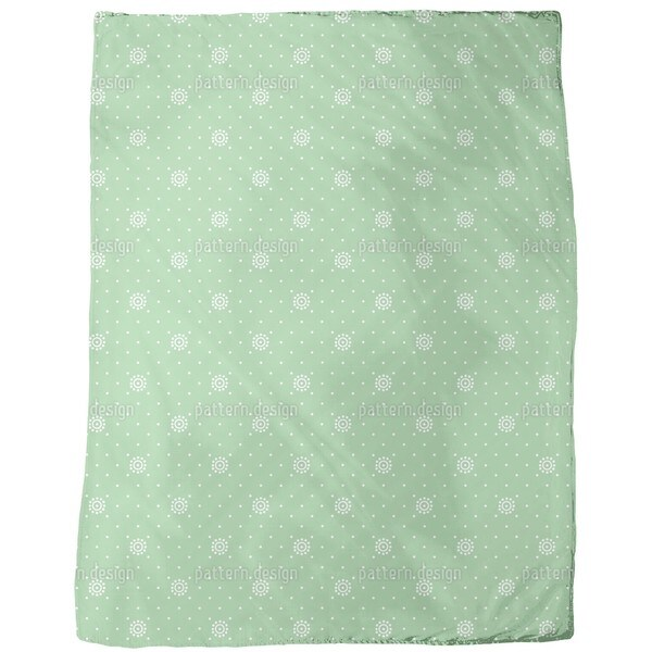 Flowers on Green Fleece Blanket