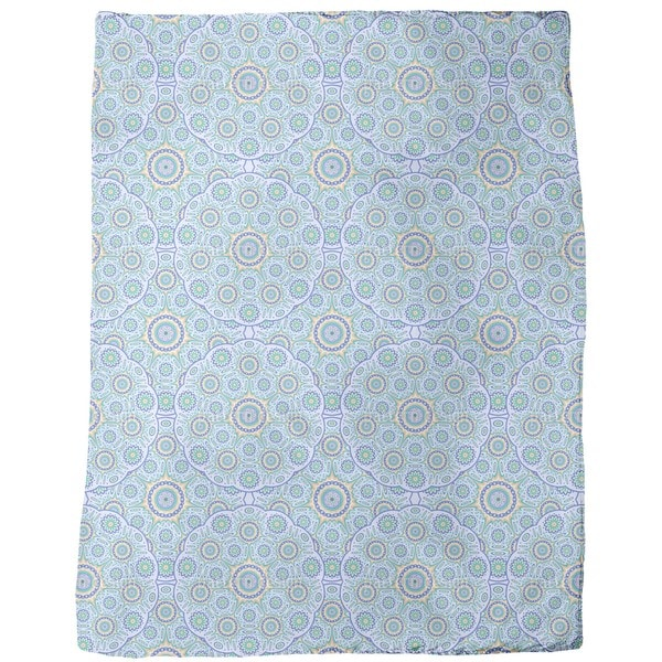 Geometric Mandala Fleece Blanket