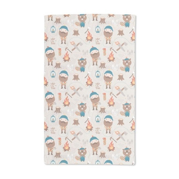 Lumberjack and Forest Friends Hand Towel (Set of 2)