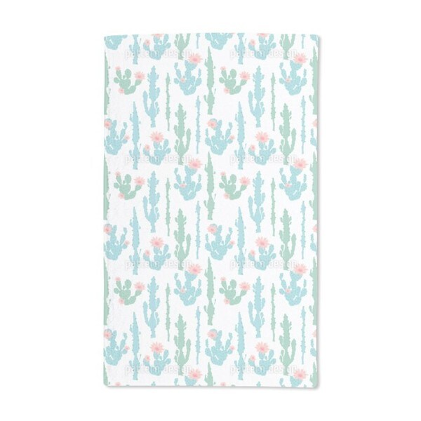 Blooming Cactus Hand Towel (Set of 2)