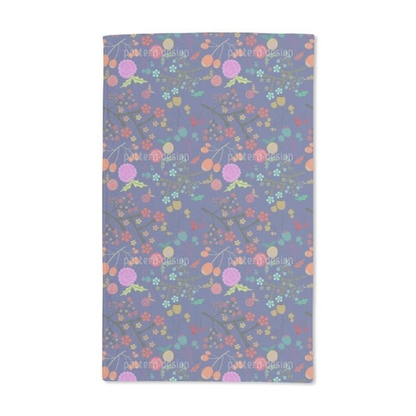 Olives and Flowers Hand Towel (Set of 2)