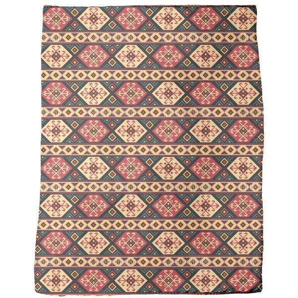 Colorful Kilim Fleece Blanket