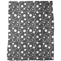 Circular Rounds Black and White Fleece Blanket