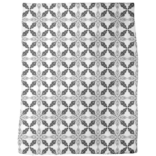 Moroccan Bw Fleece Blanket