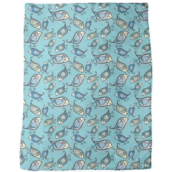 Little Birds of Paradise Fleece Blanket
