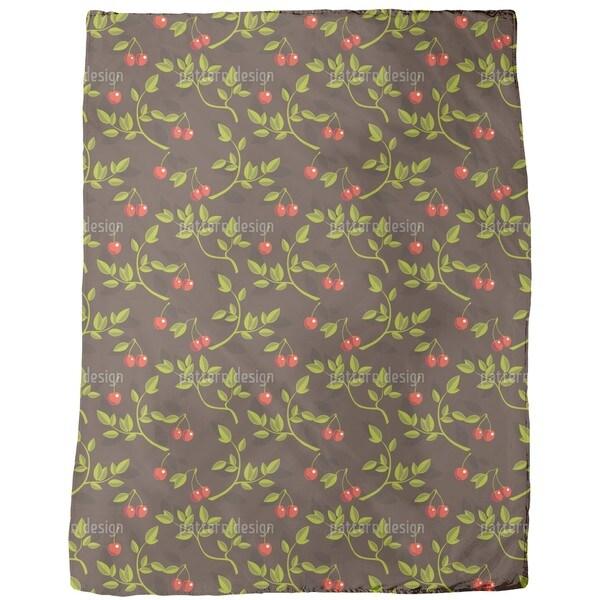 Cherry Branches Fleece Blanket
