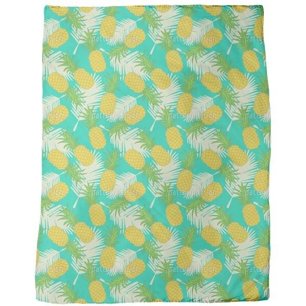 Pineapple Tropicana Fleece Blanket