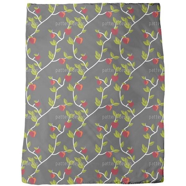 Garden of Eden Grey Fleece Blanket