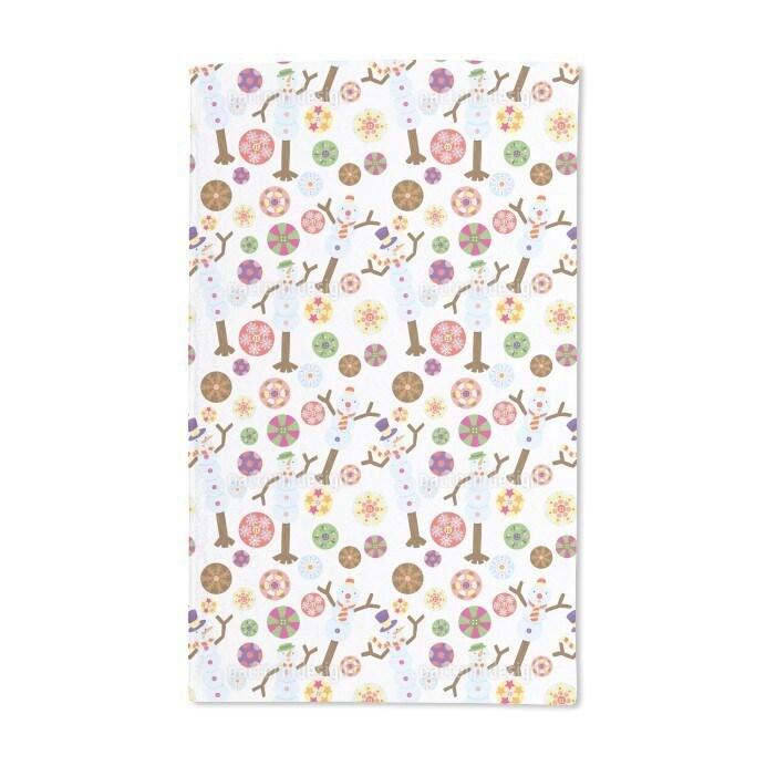 Uneekee Snowman Hand Towel (Set of 2) (Snowman Hand Towel...