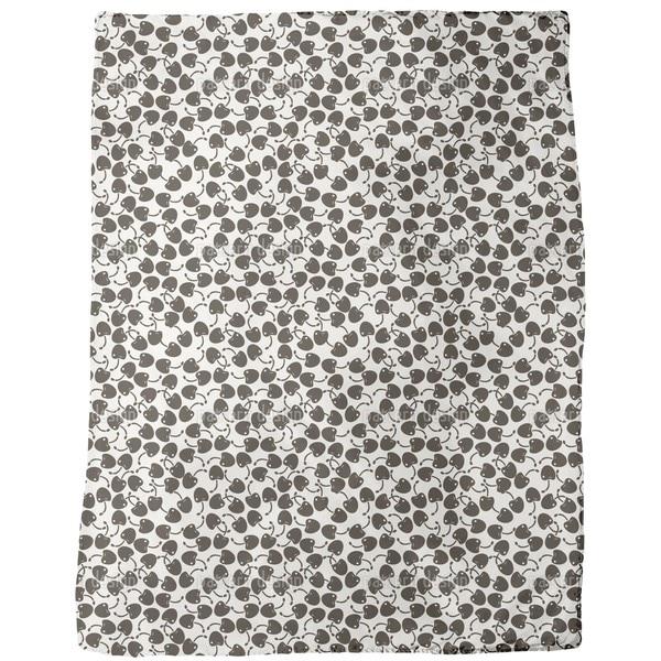 Dark Cherry Fleece Blanket