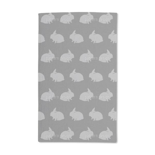Grey Rabbits Hand Towel (Set of 2)