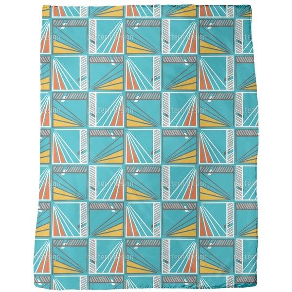 Windows To the Modern Art Fleece Blanket