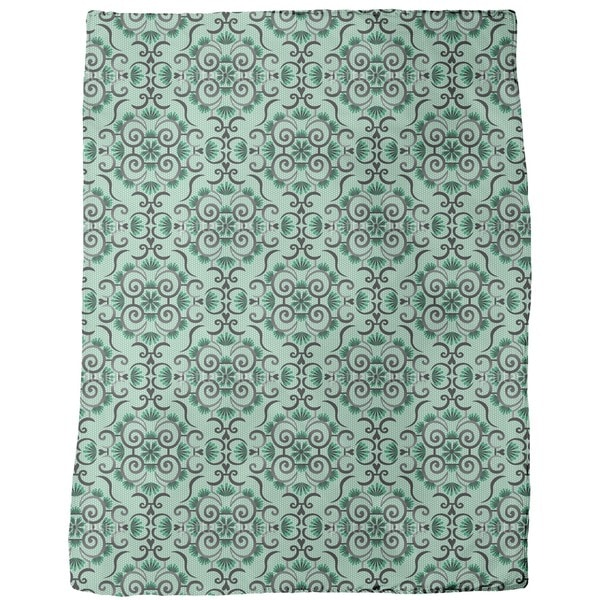 Lace Idol Green Fleece Blanket