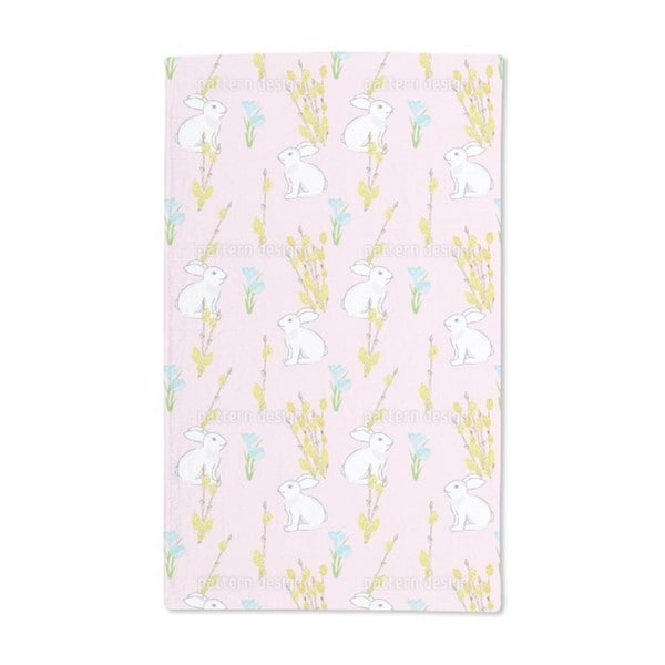 Easter Bunny and Flowering Willow Hand Towel (Set of 2)