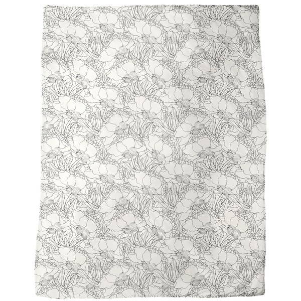 Jugendstil Flowers Fleece Blanket