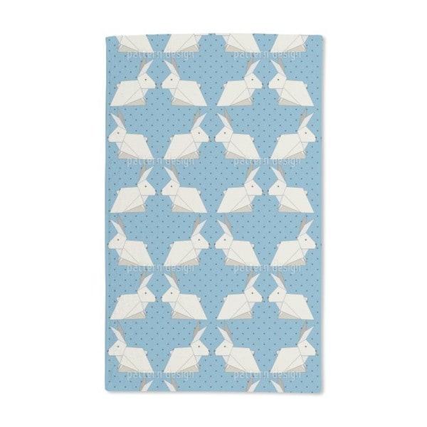 Origami Rabbits on Polka Dots Hand Towel (Set of 2)