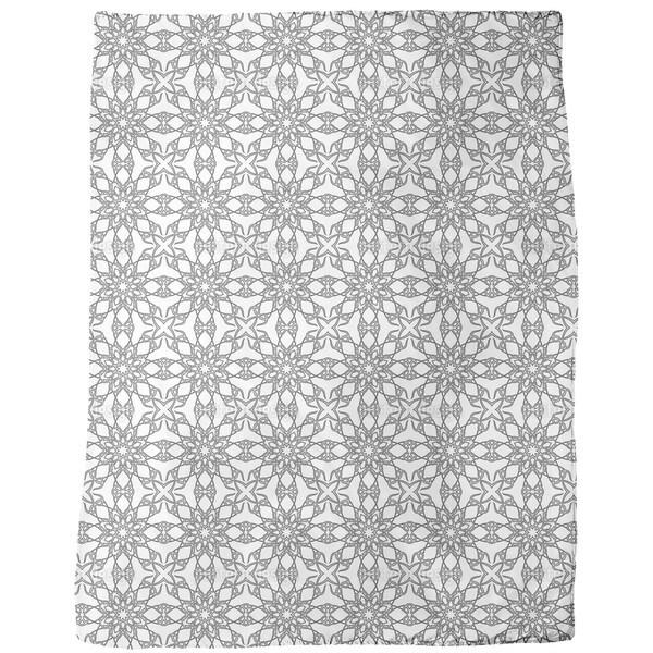 Monochrome Gothic Fleece Blanket