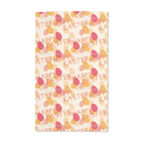 Happy Easter Red Hand Towel (Set of 2)