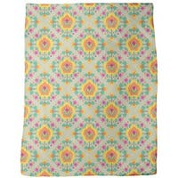 Medieval Flowers Fleece Blanket