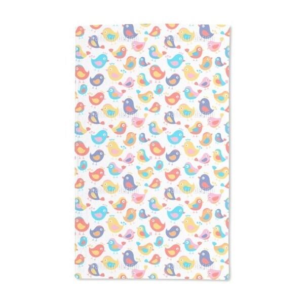 Happy Birds Hand Towel (Set of 2)