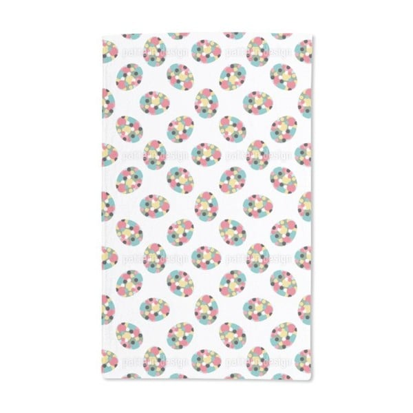 Easter Eggs With Polka Dots Hand Towel (Set of 2)