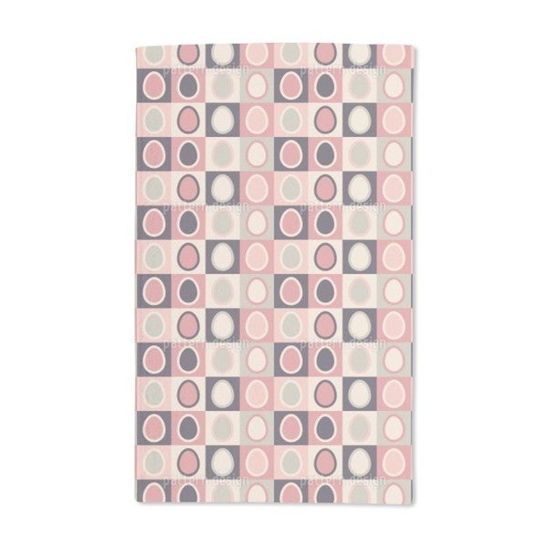 Retro Eggs to the Square Hand Towel (Set of 2)