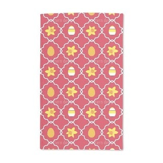 Easter Daffodils Red Hand Towel (Set of 2)