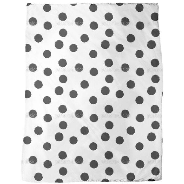 Coal Dots Fleece Blanket