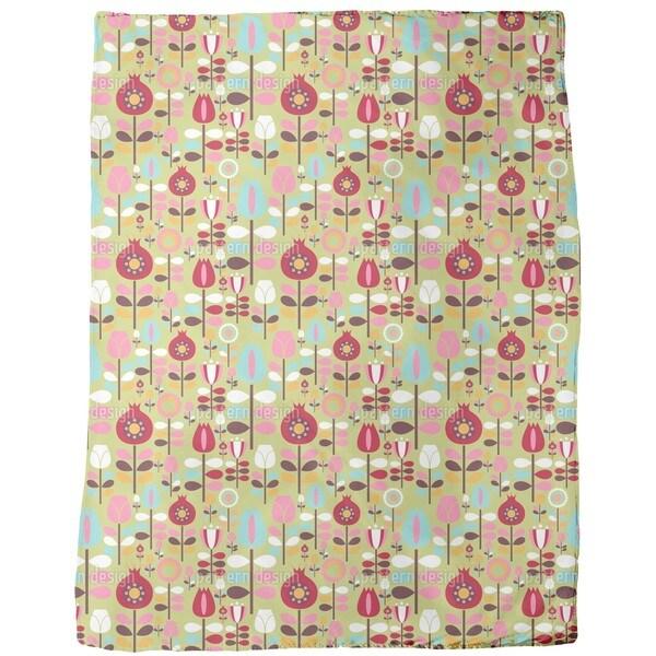 Garden of the Seventies Fleece Blanket