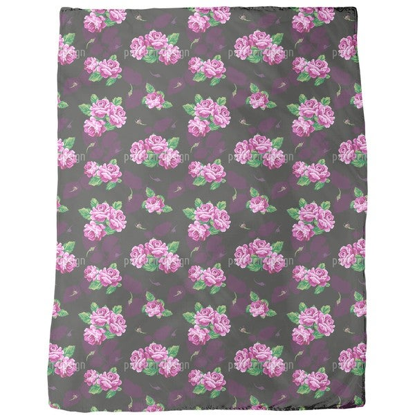 Nostalgic Rose Bouquet Fleece Blanket