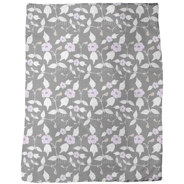 Floral Network Fleece Blanket